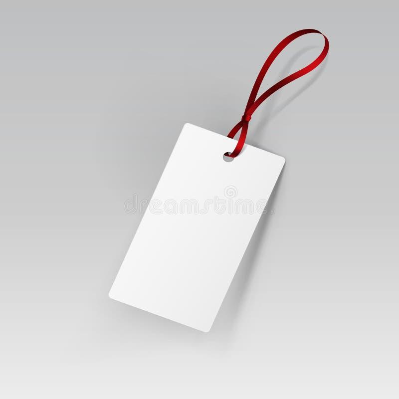 Marquez le vecteur de blanc de ruban d'étiquette illustration libre de droits