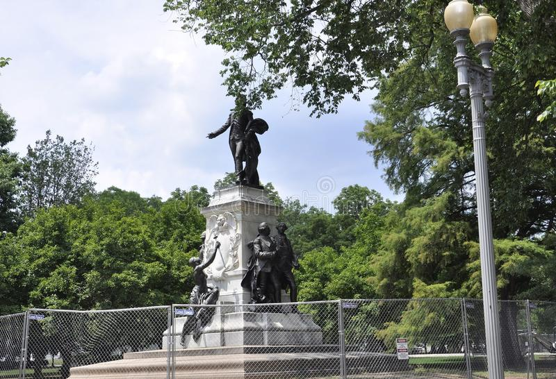 Marquis de Lafayette Statue from Washington District of Columbia USA stock images