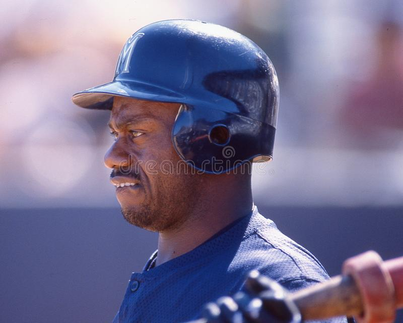 Marquis Grissom, Milwaukee Brewers lizenzfreie stockfotografie