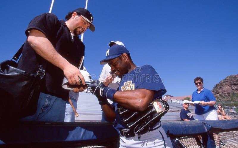 Marquis Grissom, Milwaukee Brewers stockbild