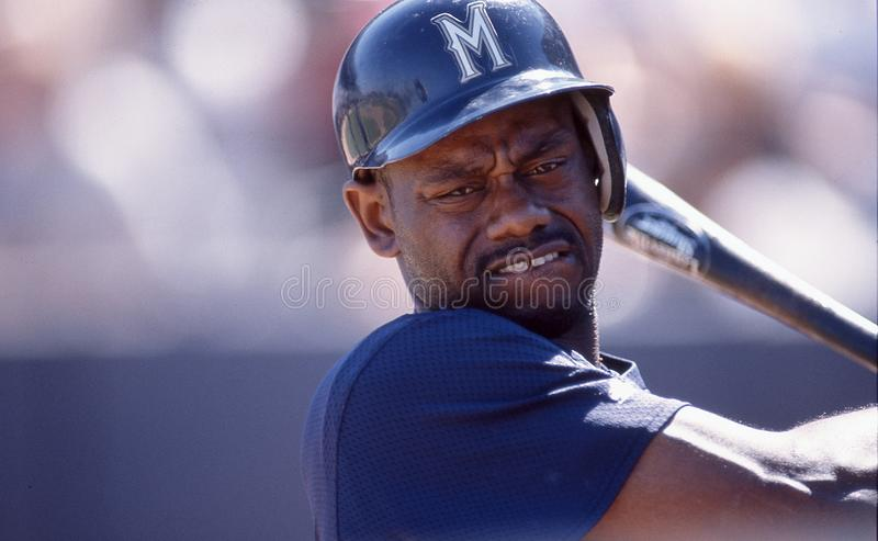 Marquis Grissom, Milwaukee Brewers lizenzfreie stockfotos