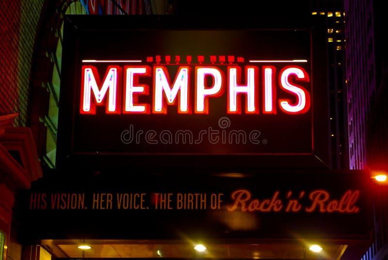 Marquis pour Memphis musical, Manhattan, NYC photo stock