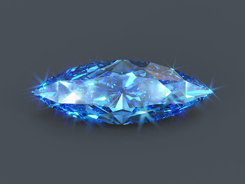 Sapphire marquise cut isolated gem royalty free illustration