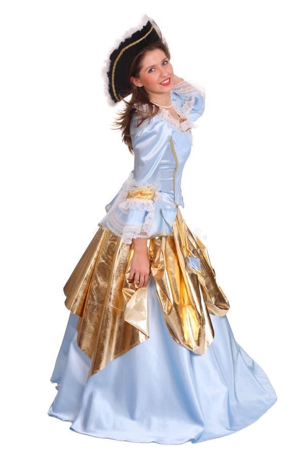 marquise kostiumowa kapeluszowa kobieta zdjęcia royalty free