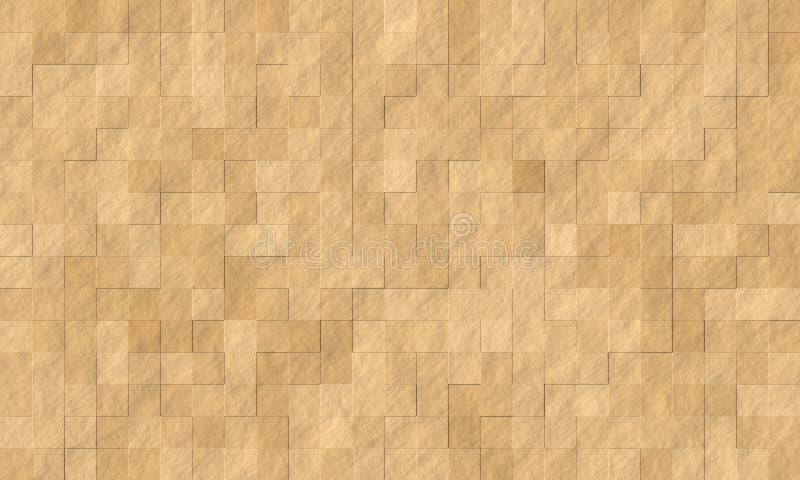 Marrón áspero de la textura de la teja de piedra de la roca ilustración del vector