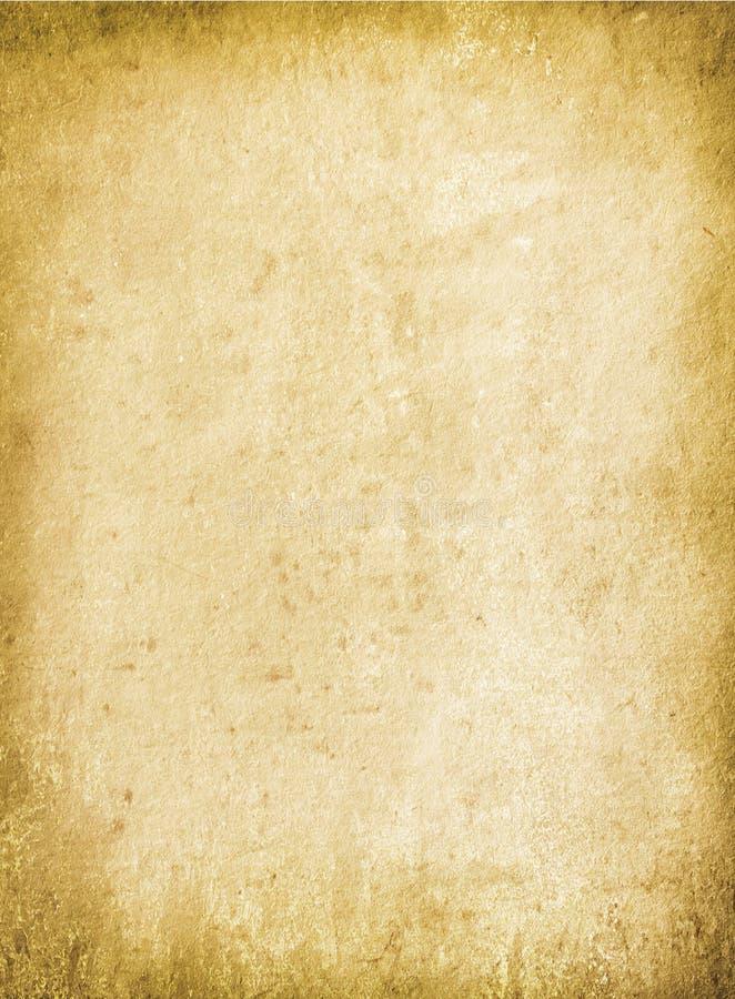 Marrón del fondo del Grunge, vieja textura de papel, manchas, espacio en blanco, textu stock de ilustración