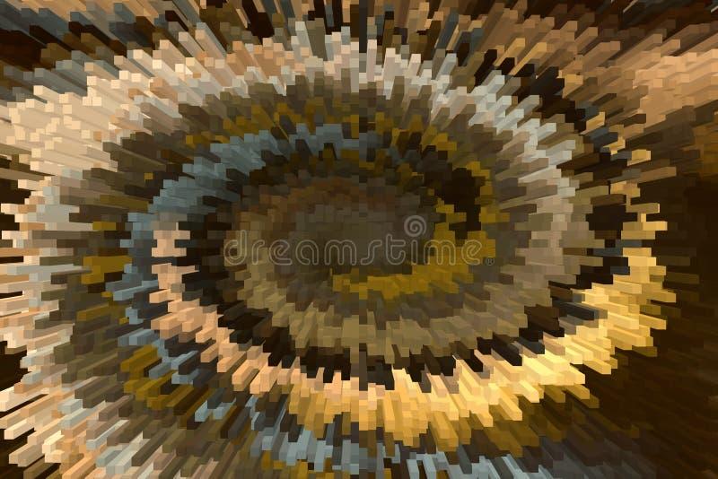 Marrón sólido maravilloso de la forma y de la torsión de la barra y abstra moderno del oro foto de archivo