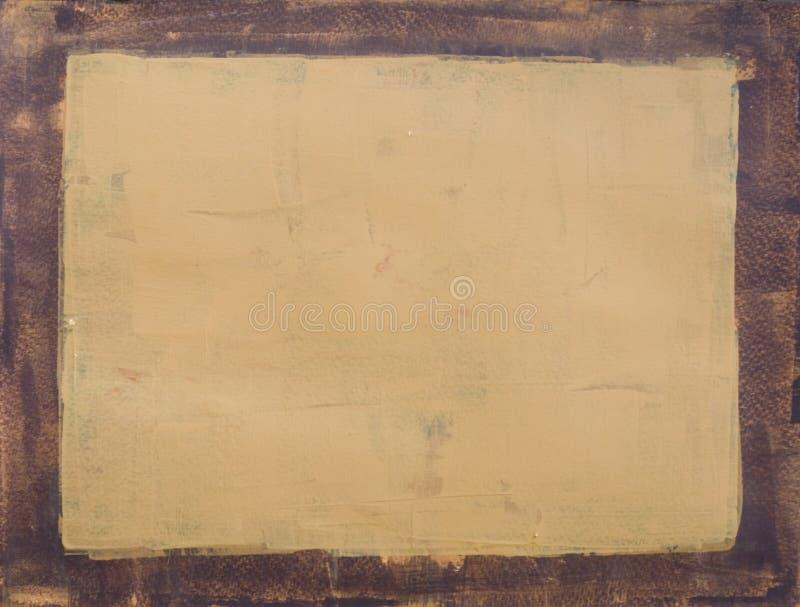 Marrón y beige pintados del marco imágenes de archivo libres de regalías
