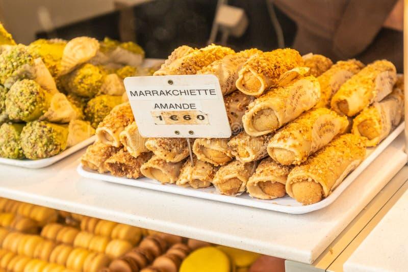 Marrakchiette w Paryskiej gablocie wystawowej zdjęcie stock