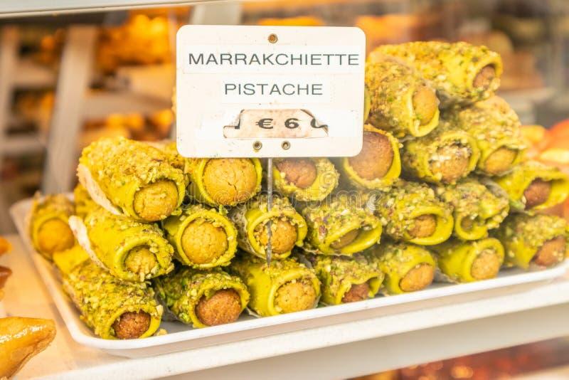 Marrakchiette w Paryskiej gablocie wystawowej obrazy royalty free