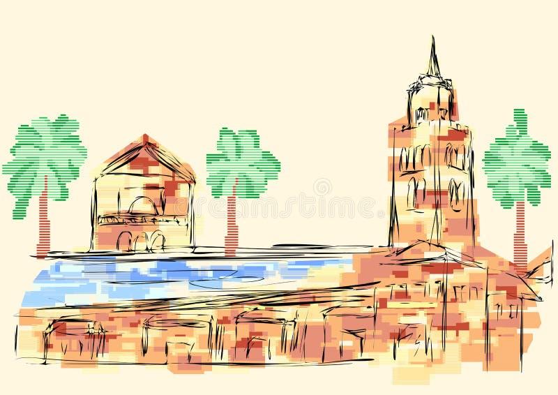Marrakech illustration de vecteur