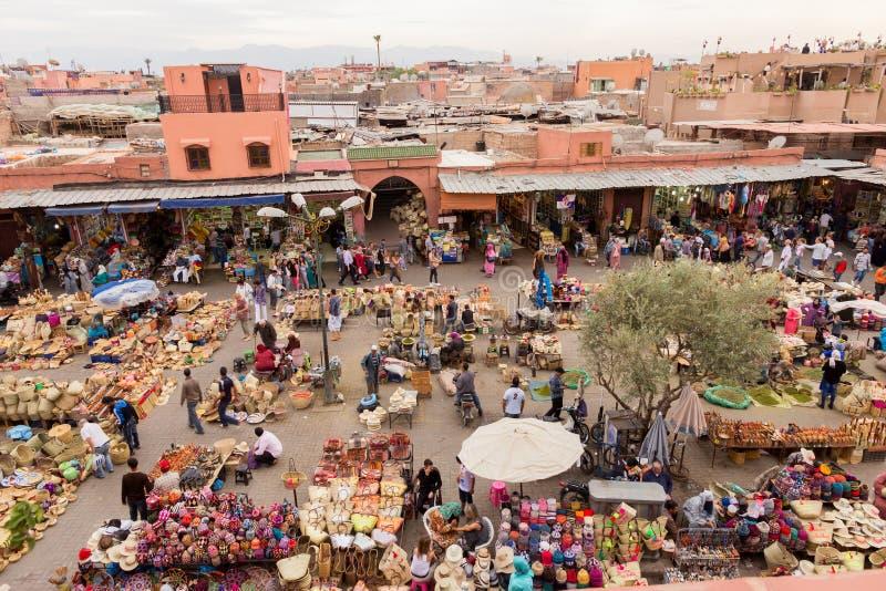 Marrakech Berbermarknad arkivfoton