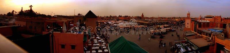 marrakech för djemaael-fna solnedgång