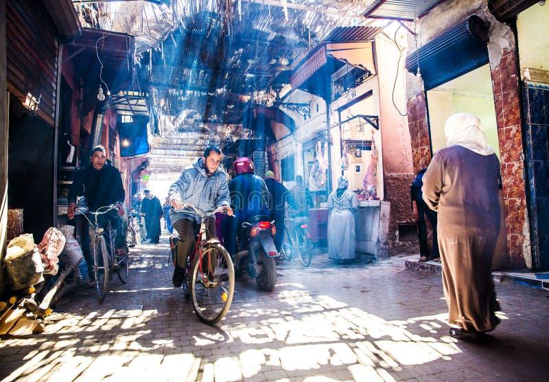 Marrakech gata royaltyfri fotografi