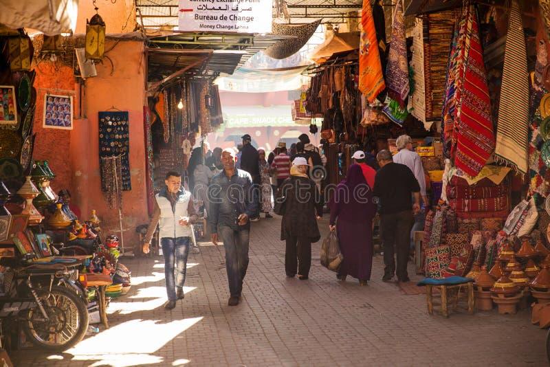 Marrakech gata arkivbild