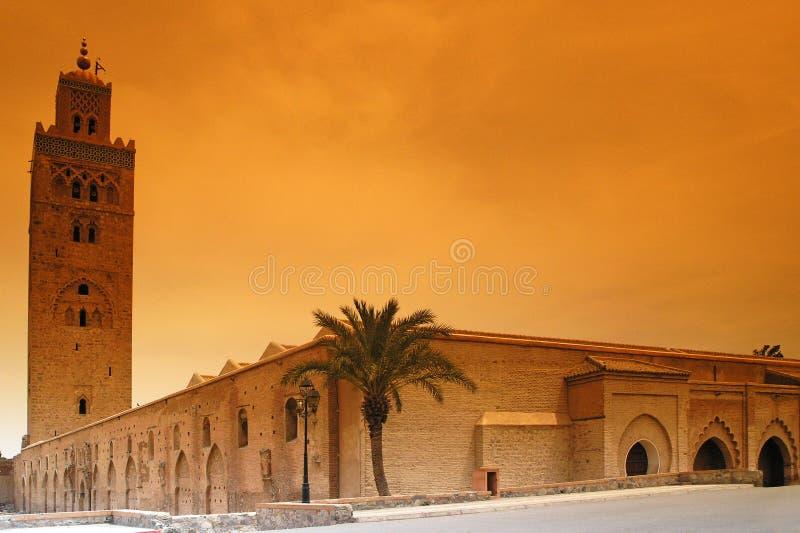 Marrakech Koutoubia royalty-vrije stock fotografie