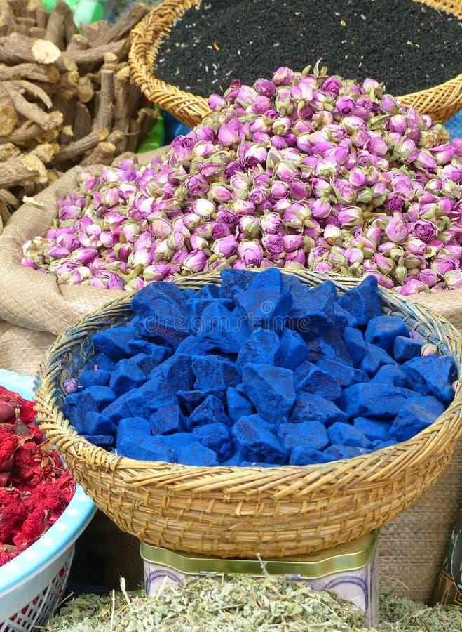 Marrakech market stall stock photos