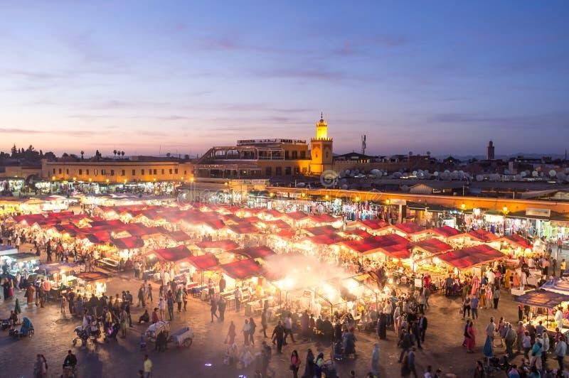 Marrakech marknadsplats royaltyfria bilder