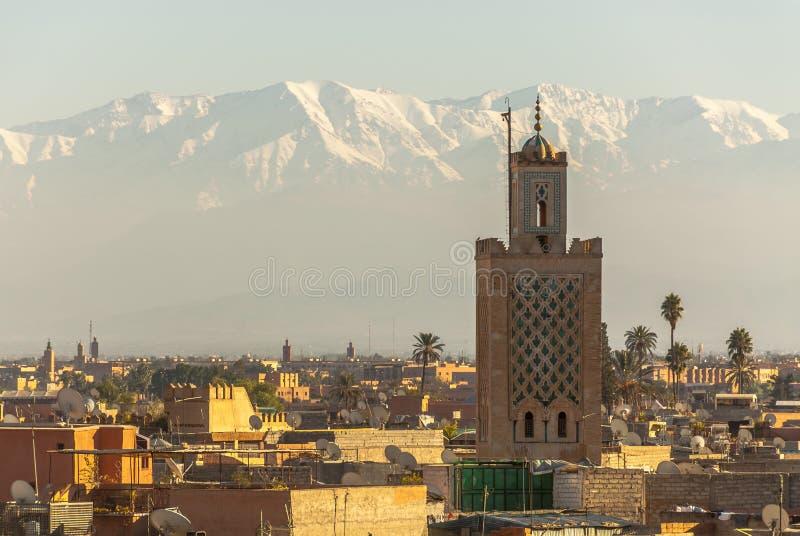 Marrakech in Marokko stock afbeelding