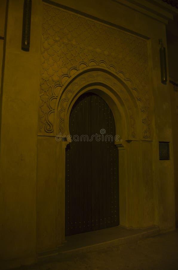 Marrakech medina gator arkivfoto