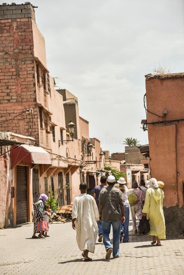 Download Marrakech Medina, Maroko zdjęcie stock editorial. Obraz złożonej z ulica - 57653703
