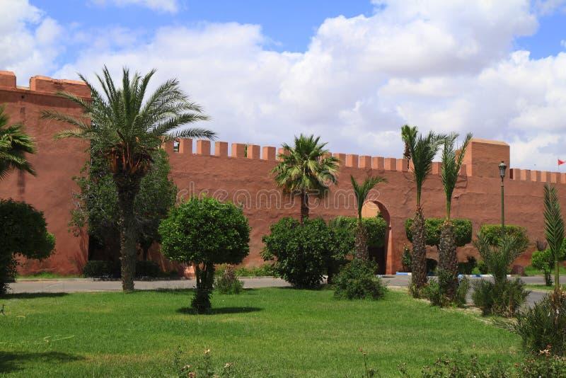 Marrakech miasta Stare ściany fotografia royalty free