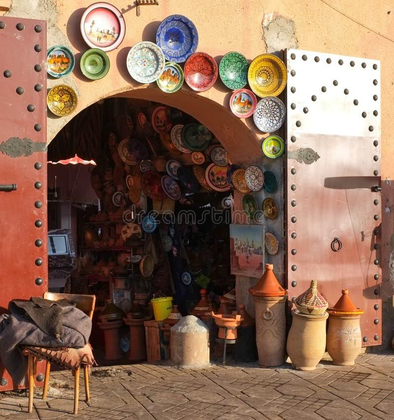 marrakech Morocco garncarstwa souk zdjęcie royalty free