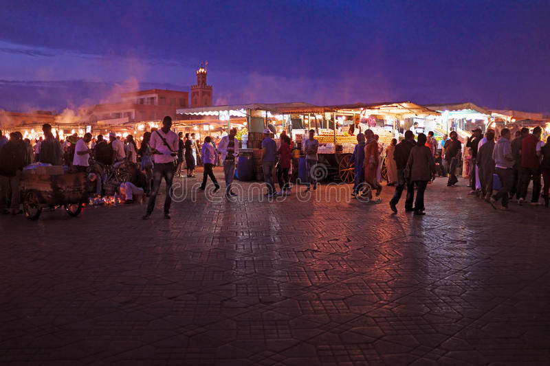 MARRAKECH - MOROCCO, 22 OCTOBER 2013:Jamaa el Fna is a square an