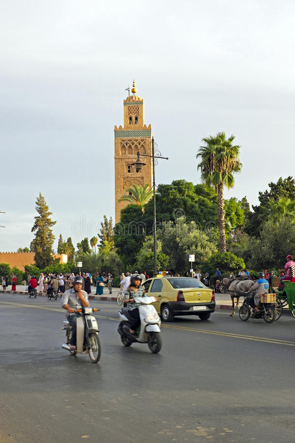 Download MARRAKECH, MOROCCO - OCTOBER 22, 2013:View On The Koutoubia Mosq Editorial Stock Image - Image: 36243289