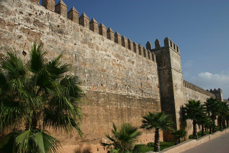 marrakech morocco slottväggar royaltyfri bild