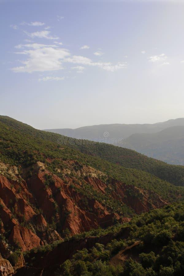 Marrakech naturlandskap i Marocko, Afrika Öken och berg Lopp Marocko wanderlust royaltyfria bilder