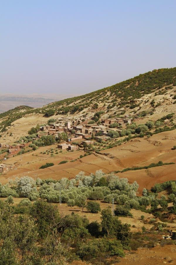 Marrakech naturlandskap i Marocko, Afrika Öken och berg Lopp Marocko wanderlust fotografering för bildbyråer