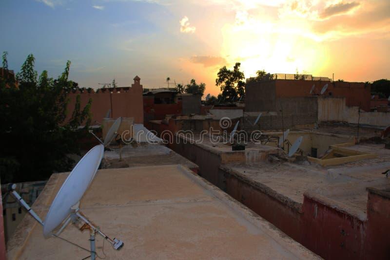 Marrakech naturlandskap i Marocko, Afrika Öken och berg Lopp Marocko wanderlust arkivbild