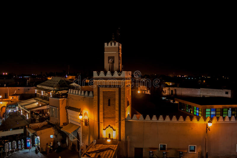 Marrakech nocą obraz royalty free