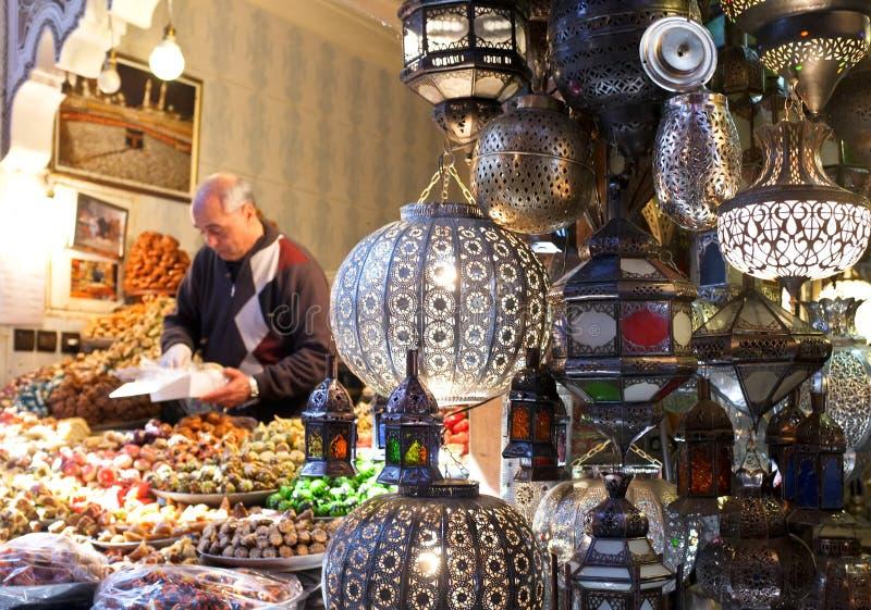 Marrakech Souks, Marokko royalty-vrije stock afbeeldingen