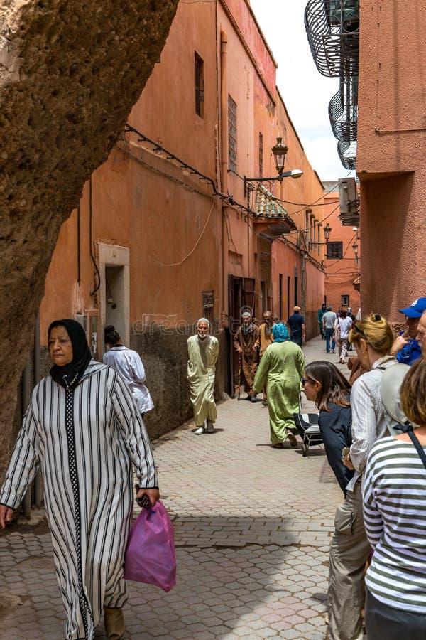 Marrakech ulicy scena obrazy stock