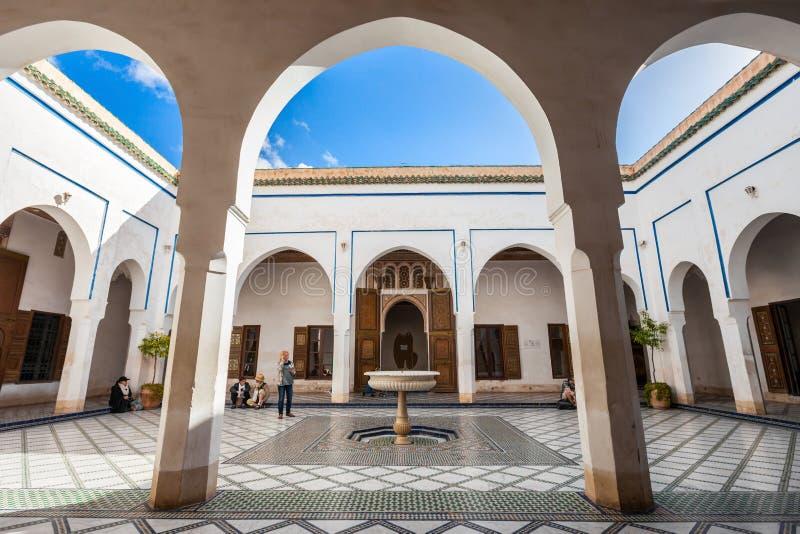 Marrakesh Bahia Palace fotografia stock