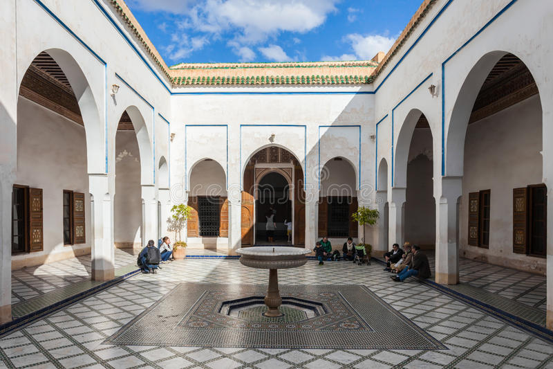 Marrakesh Bahia Palace royalty free stock photography