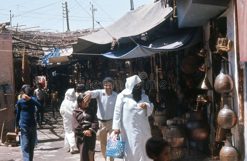Download 1974. Morocco. Marrakesh, Bazaar. Cobberstreet. Editorial Photo - Image of historic, camera: 28975156