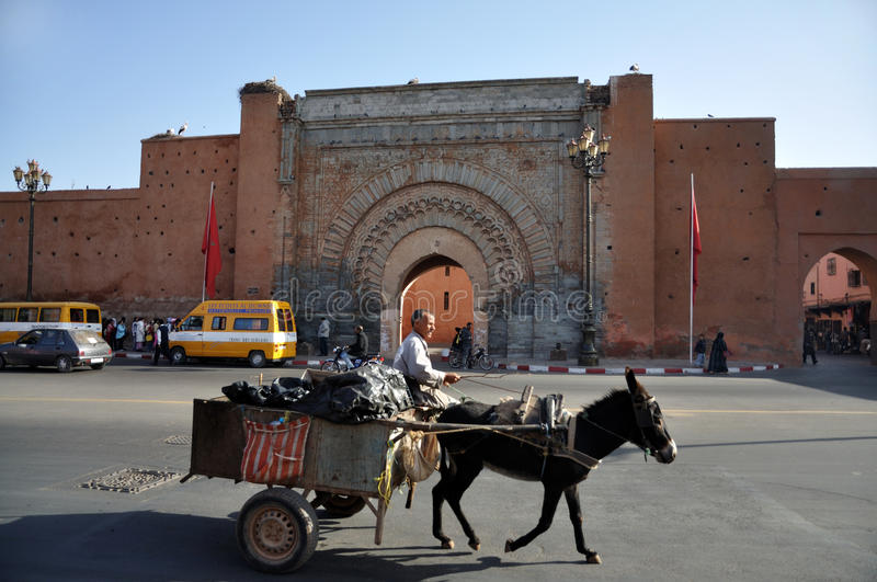 Marrakesh gate stock images