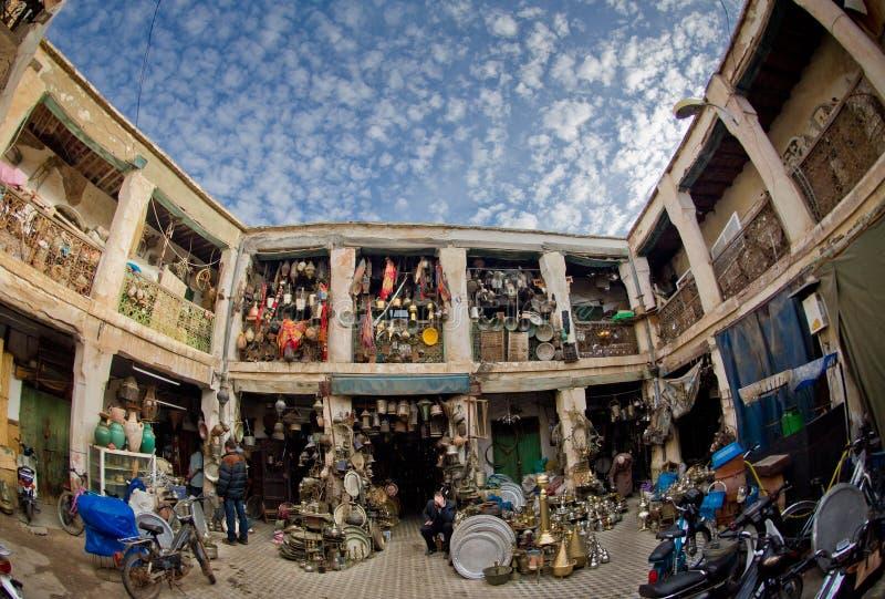 Marrakesh ironmongers kwadrat fotografia royalty free