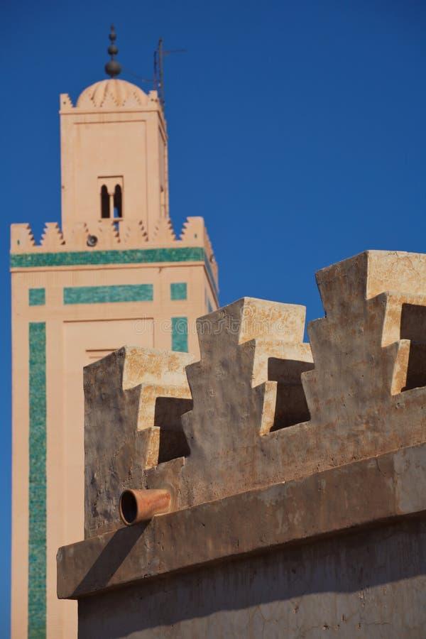 marrakesh minaret arkivbilder