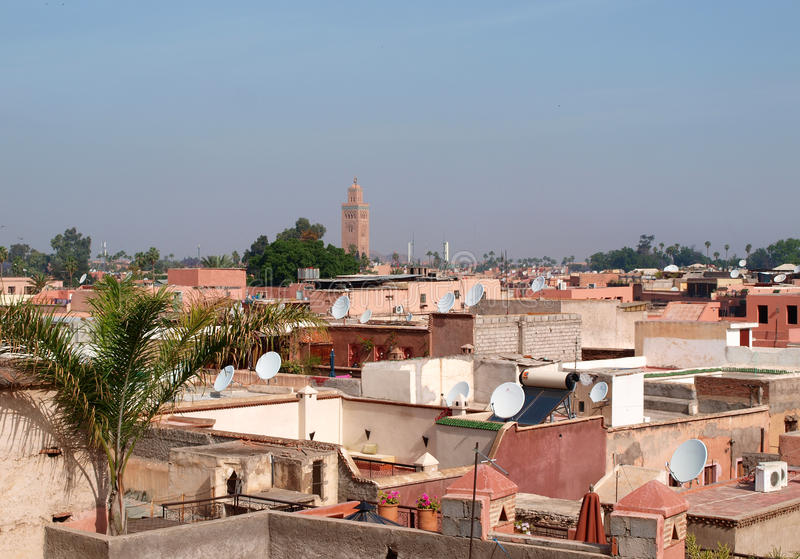 Marrakesh roofs royalty free stock image