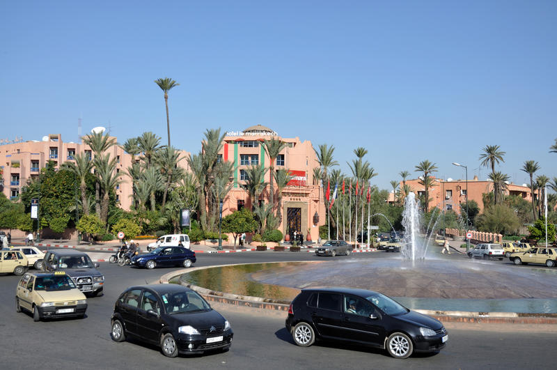 marrakesh sceny ulica zdjęcia royalty free