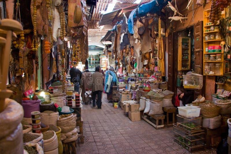 Marrakesh souk fotografia royalty free