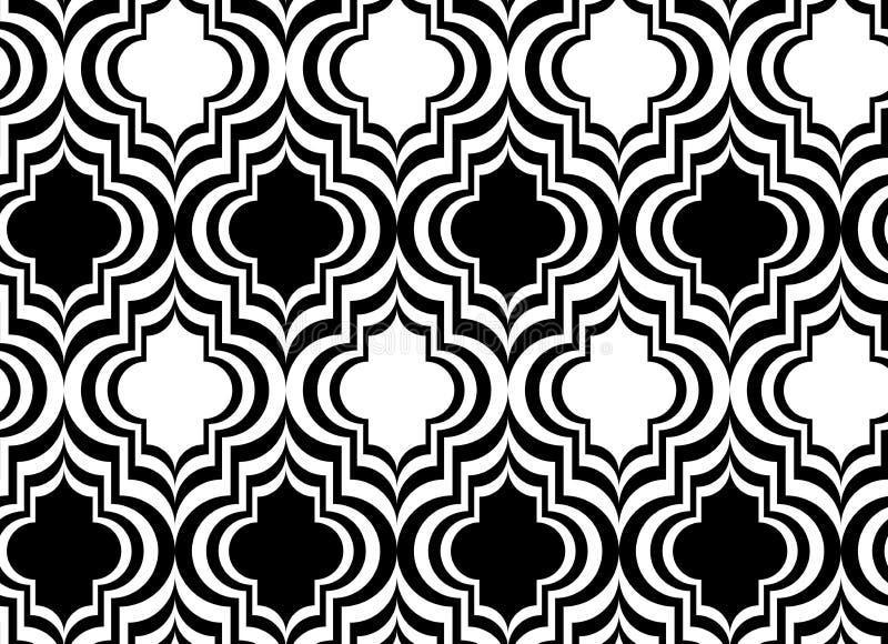 Marrakesh vertical blanco y negro stock de ilustración