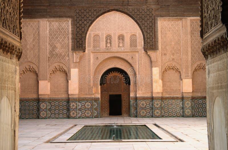 Marrakesz madrassa zdjęcie royalty free