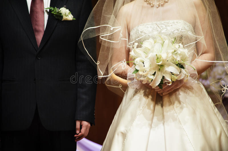 Marriage. Husband and wife in marriage ceremony