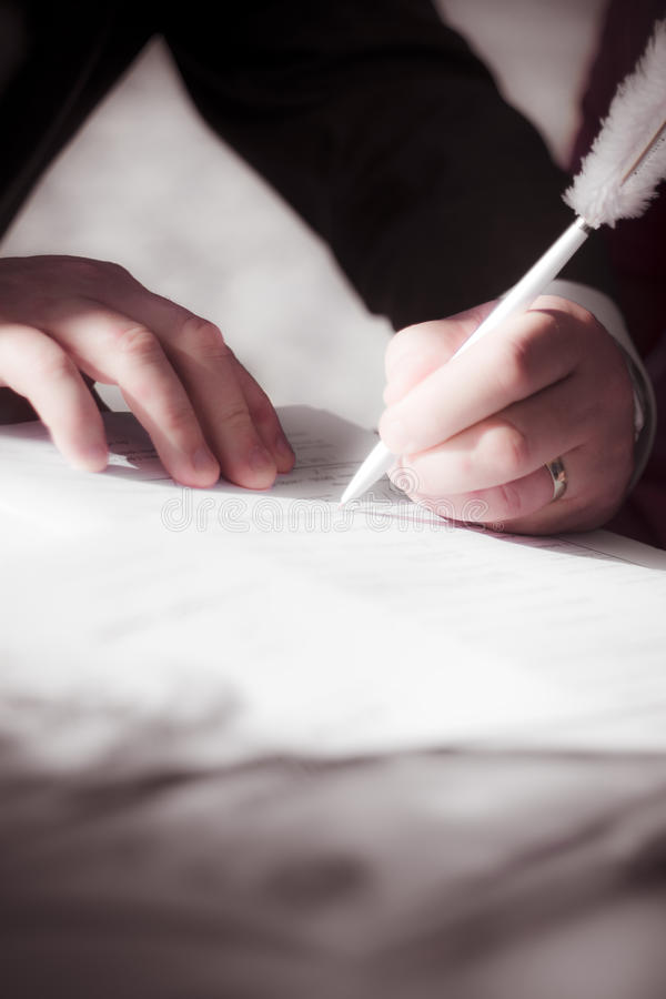 Download Marriage Certificate stock photo. Image of hands, contract - 17291584
