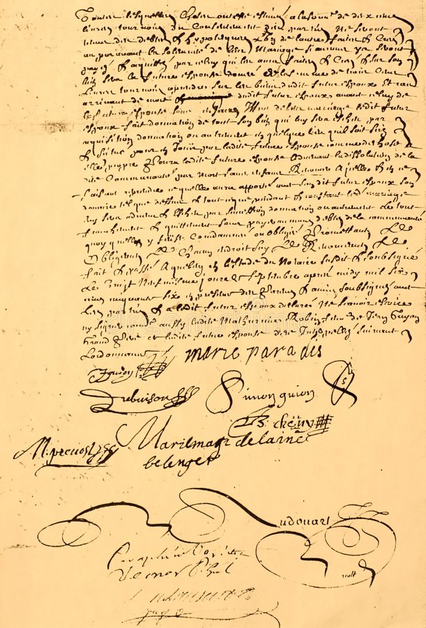 Free Marriage Contract Dated 1656. Stock Photo - 4738420